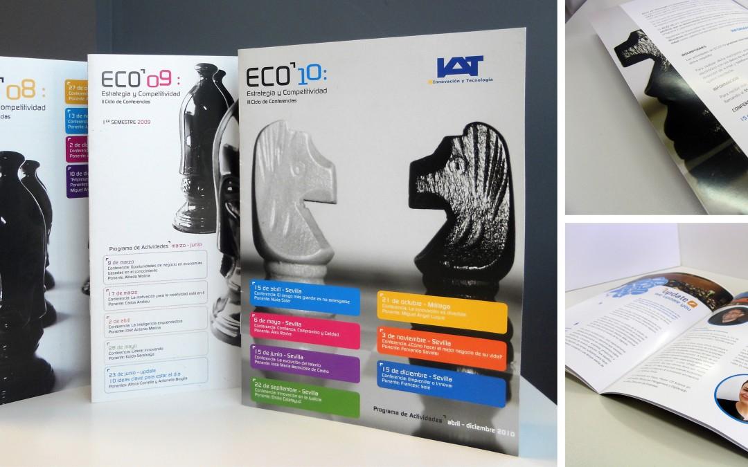 Anagrama Comunicación diseña la identidad y materiales para el Ciclo de conferencias ECO entre 2008 y 2011