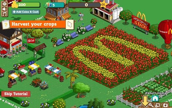Advergaming de McDonald - Publicidad en videojuegos