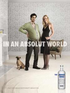 Intercambio de roles en los anuncios de Absolut