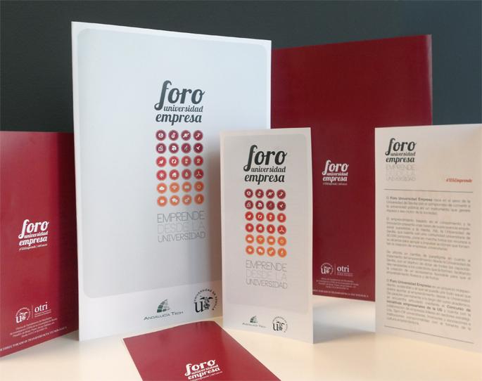 Identidad visual para Foro Universidad-Empresa OTRI - Anagrama Comunicación&Marketing