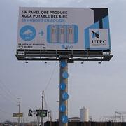 Una valla publicitaria como medio para generar agua potable