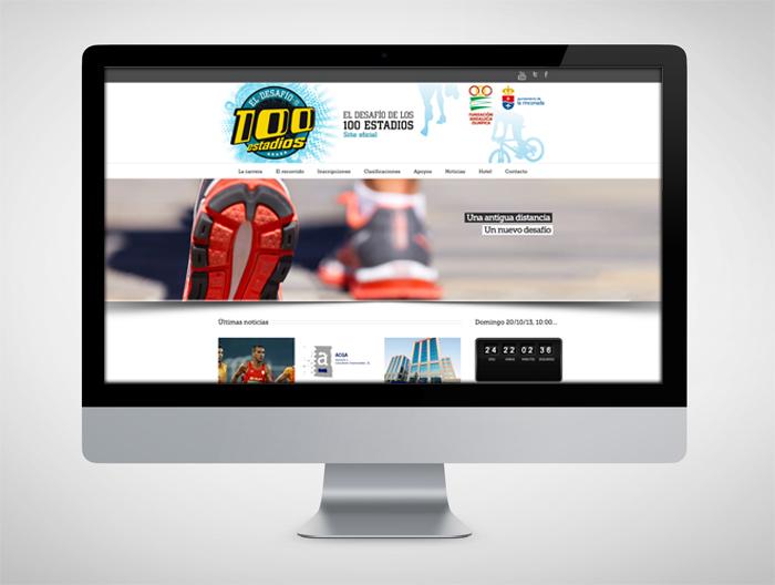 Anagrama Comunicación diseña la web de El Desafío de los 100 Estadios