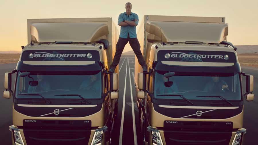 Jean Claude Van Damme y el sorprendente viral de Volvo