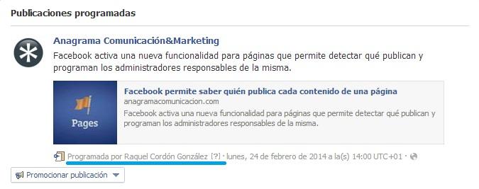 administrador publicacion programada facebook