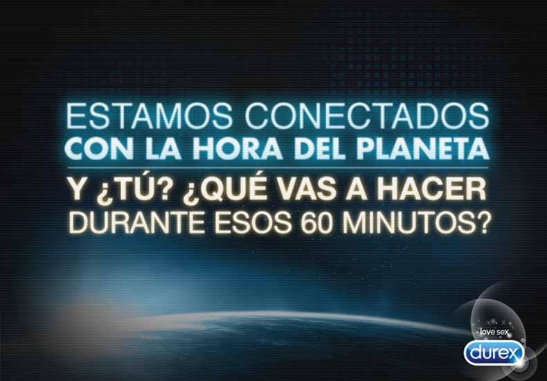 Durex nos propone cómo desconectar en «La hora del planeta»