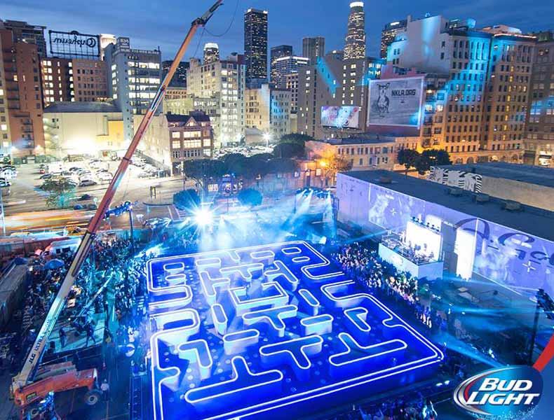 Super Bowl 2015: ¿jugarías a un «comecocos» creado a tamaño real?