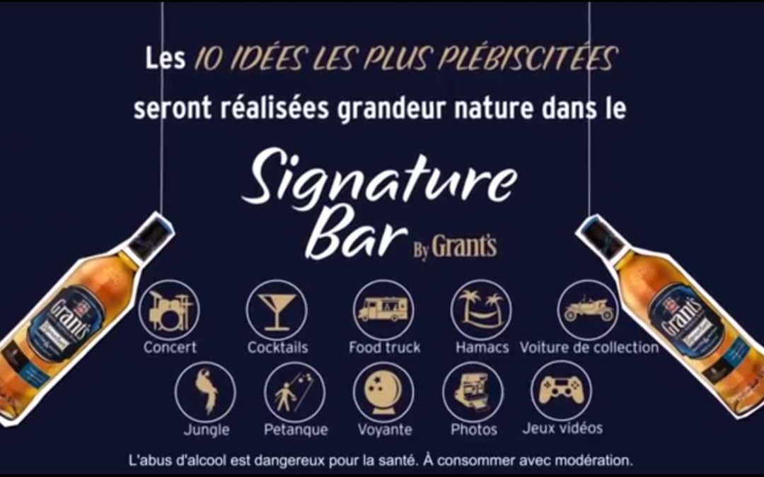 Grant's monta un bar efímero en París a gusto del consumidor