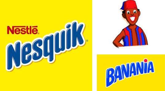 Logotipos Nesquik y Banania