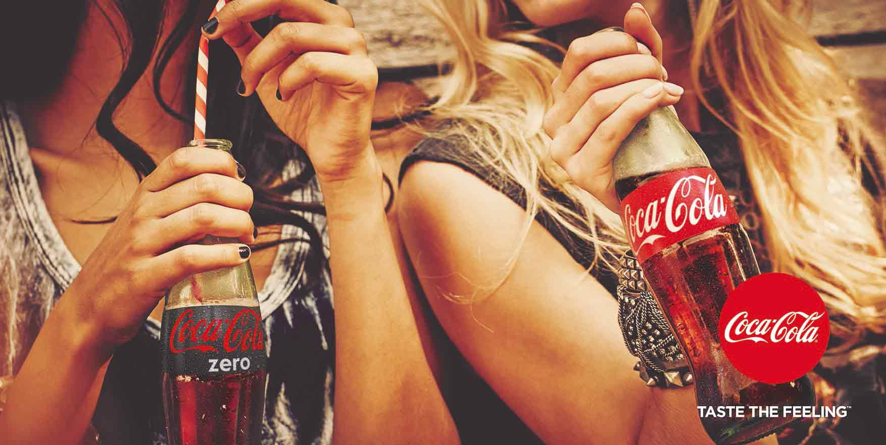 Gráfica Taste the feeling Coca Cola