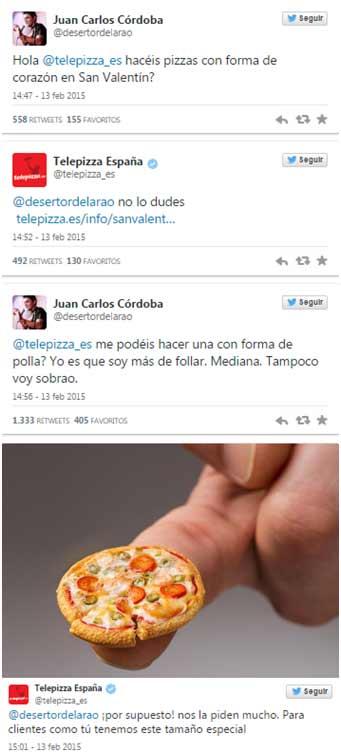 Tweet-Telepizza día de los enamorados