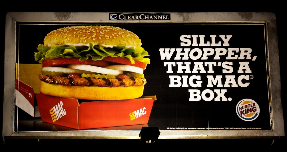 Valla publicitaria Whopper