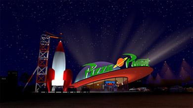 Marcas creadas para el cine - Pizza Planet